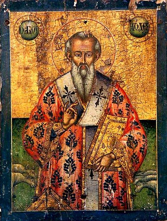 Святитель Модест, Патриарх Иерусалимский. Греческая икона.