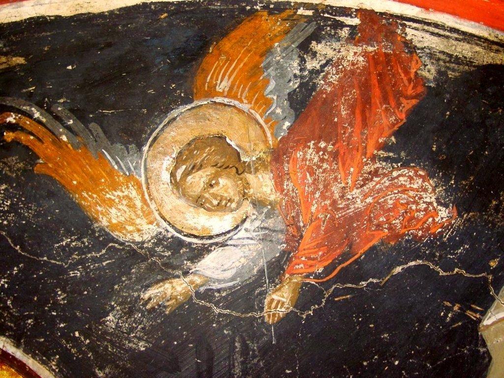 Жертвоприношение Авраама. Фреска Великой Лавры Святого Афанасия на Афоне. 1535 год. Иконописец Феофан Критский. Фрагмент.