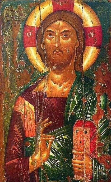 Христос Пантократор. Кипрская икона XV века.