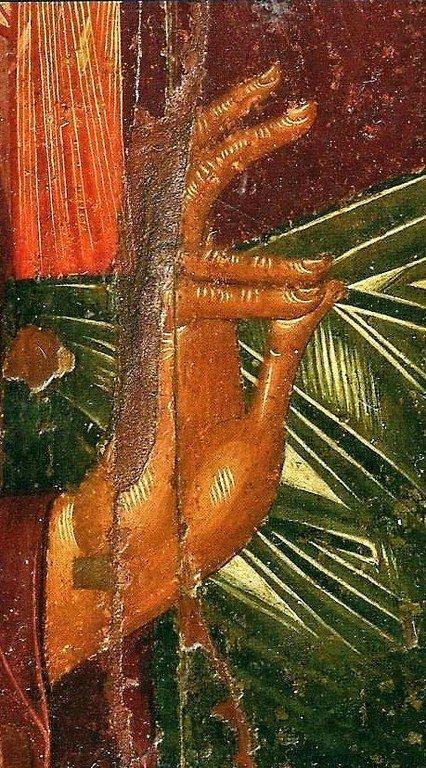 Христос Пантократор. Кипрская икона XV века. Фрагмент.