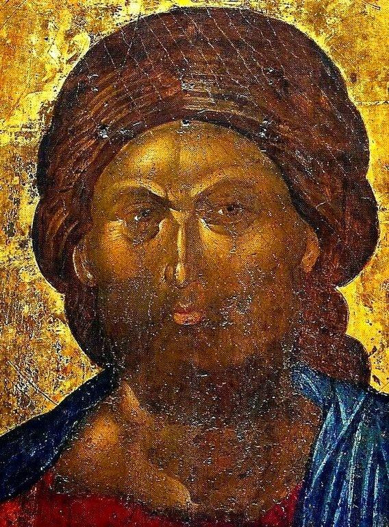 Христос Пантократор. Кипрская икона. Фрагмент.