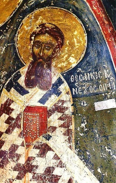 Святитель Григорий Палама, Архиепископ Фессалонитский. Фреска. Кастория, Греция.