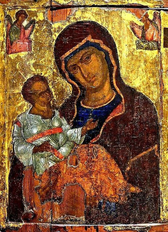 Пресвятая Богородица с Младенцем. Кипрская икона.