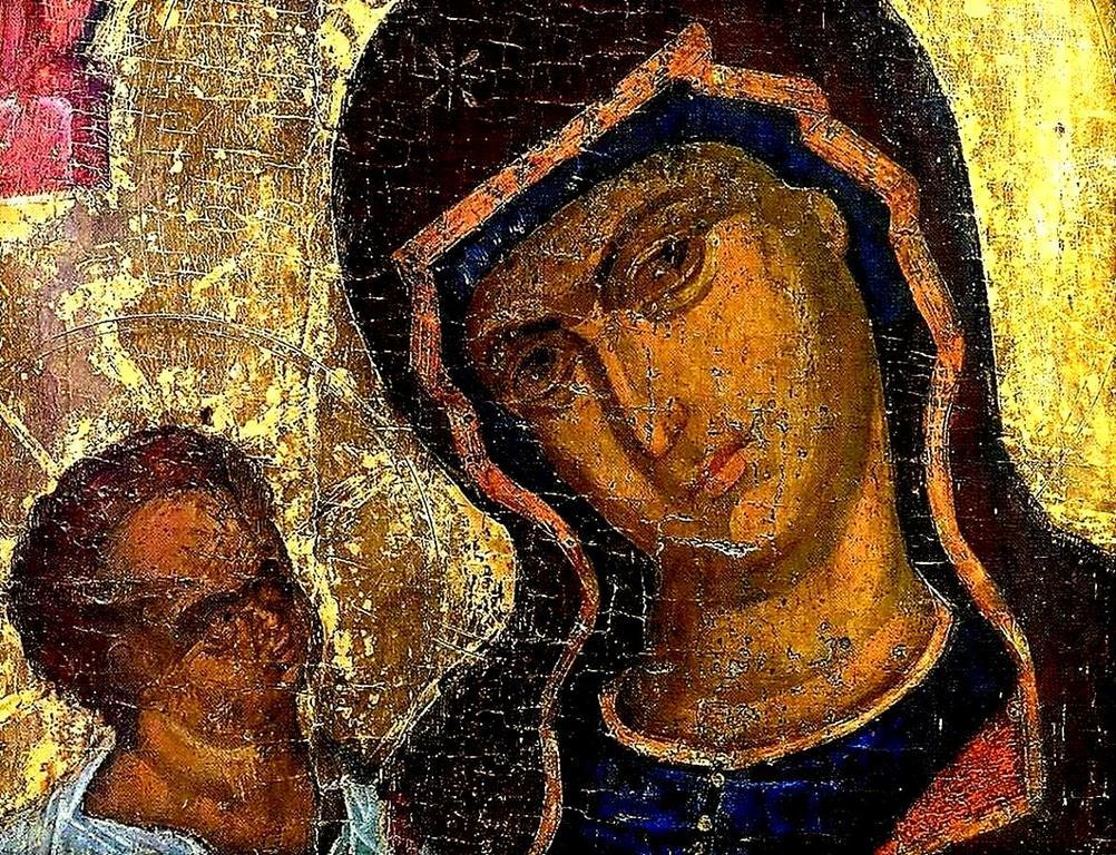Пресвятая Богородица с Младенцем. Кипрская икона. Лики.