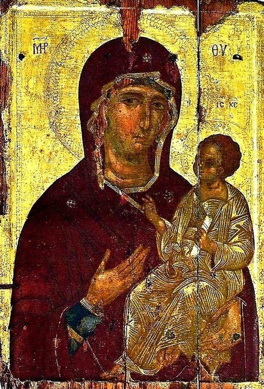 Богоматерь Одигитрия. Кипрская икона.