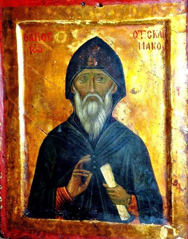 Святой Преподобный Иоанн Лествичник. Икона XV века. Монастырь Святой Екатерины на Синае.