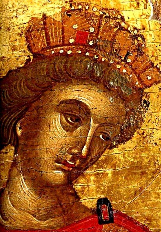 Святой Пророк Царь Соломон. Фрагмент греческой иконы.