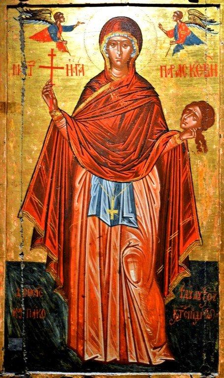 Святая Преподобномученица Параскева Римская. Греческая икона.