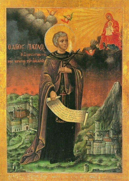 Святой Преподобный Павел Ксиропотамский.