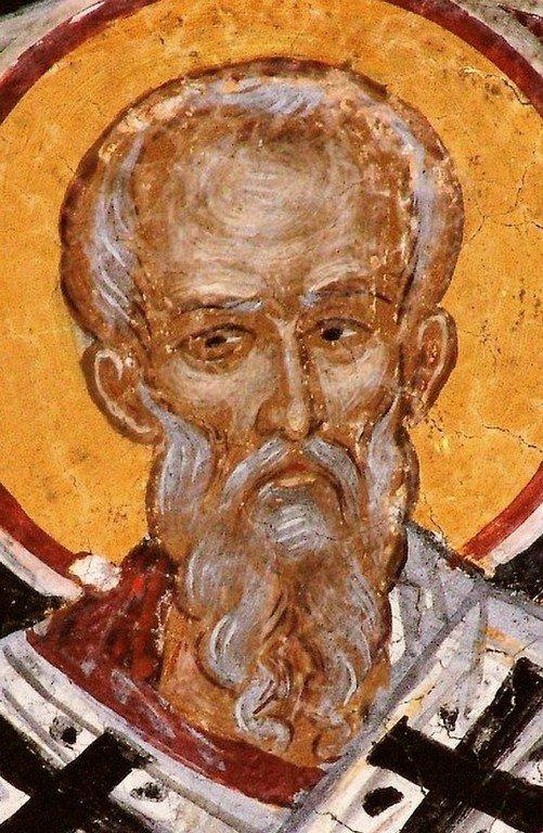 Святой Апостол от Семидесяти Сила. Фреска монастыря Святого Николая Анапавсаса в Метеорах, Греция. 1527 год. Иконописец Феофан Критский.