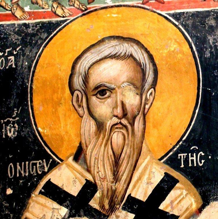 Святой Преподобный Иоанн Постник, Патриарх Константинопольский. Фреска церкви Святого Маманта в деревне Луварас, Кипр.