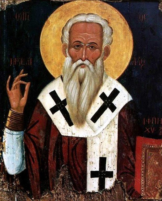 Священномученик Ираклид, Епископ Тамасский. Кипрская икона.