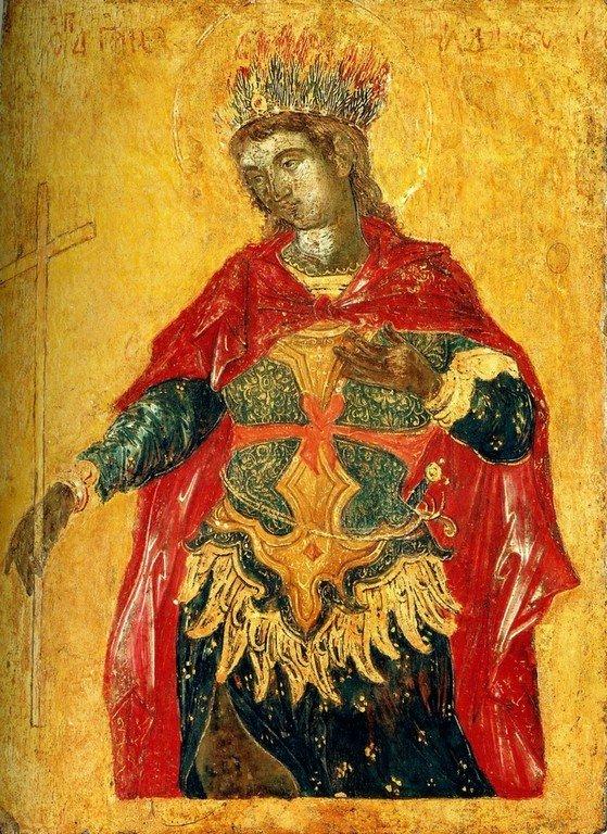 Святой Мученик Гаведдай, Царевич Персидский. Икона. Крит, вторая половина XVII века.
