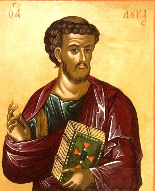 Святой Апостол и Евангелист Лука. Икона. Греция, 1546 год. Иконописец Феофан Критский.