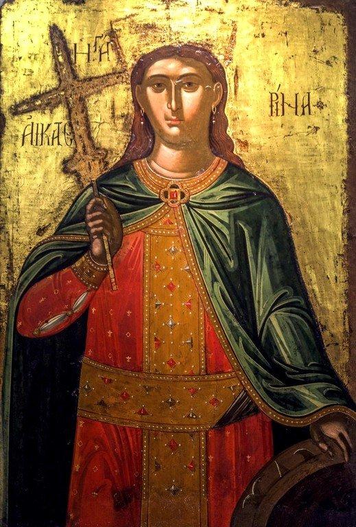 Святая Великомученица Екатерина. Греческая икона XVI века. Византийский музей в Афинах.