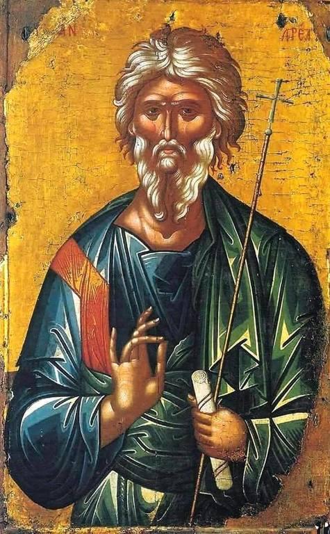 Святой Апостол Андрей Первозванный. Икона критской школы.