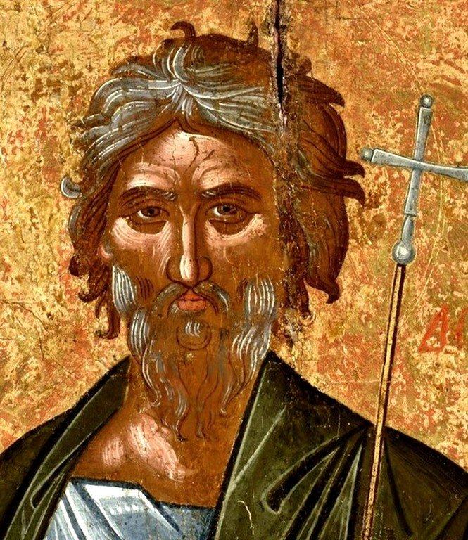 Святой Апостол Андрей Первозванный. Икона критской школы. XVI век. Лик.