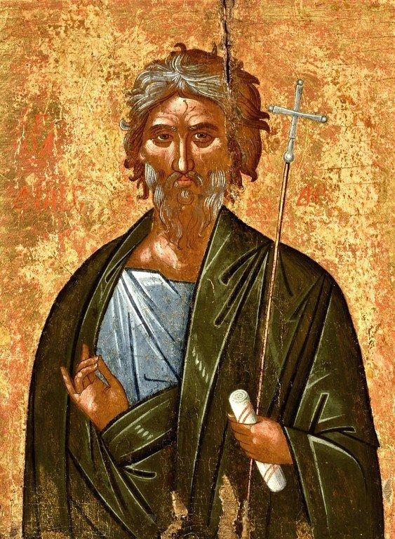 Святой Апостол Андрей Первозванный. Икона критской школы. XVI век.