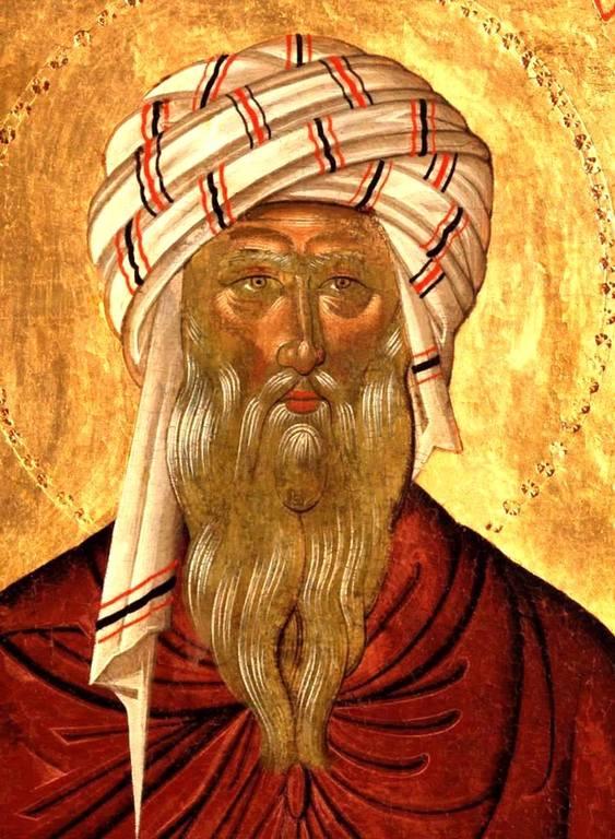 Святой Преподобный Иоанн Дамаскин. Икона. Крит, около 1500 года. Лик.