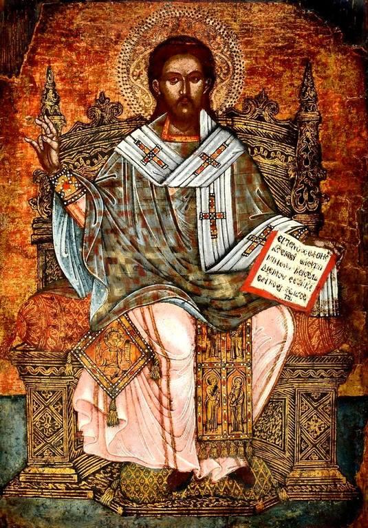 Священномученик Елевферий, Епископ Иллирийский. Греческая икона.