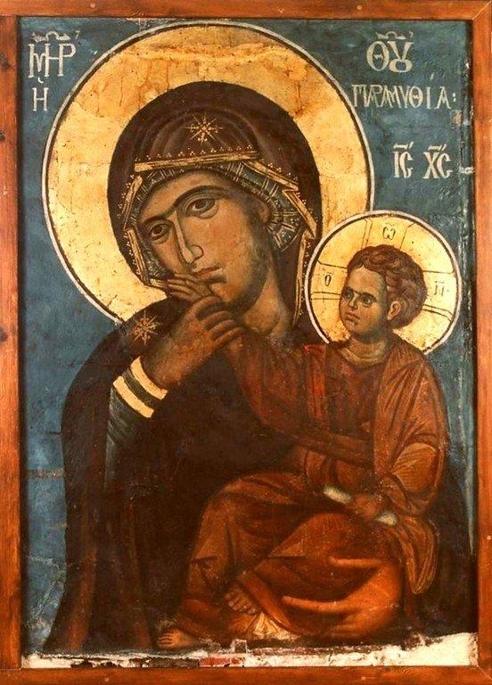 "Чудотворная икона Божией Матери ""Отрада, или Утешение"". Монастырь Ватопед на Афоне."