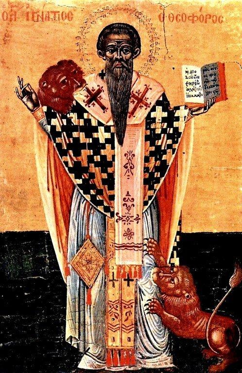 Мученичество Святого Игнатия Богоносца. Кипрская икона.