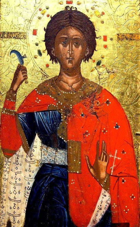 Святой Мученик Трифон. Греческая икона. Византийский музей в Кастории, Греция.