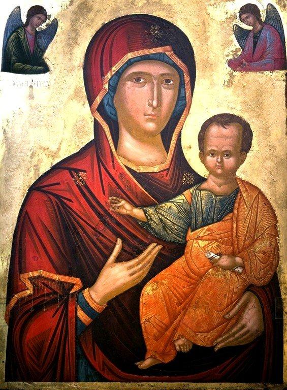 Богоматерь Одигитрия. Греческая икона. Византийский музей в Кастории, Греция.