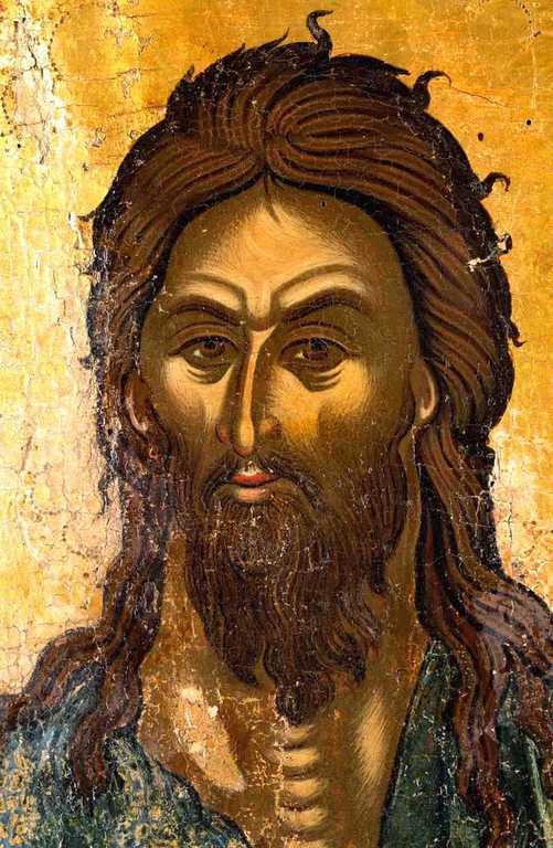 Святой Иоанн Предтеча Ангел пустыни. Икона. Греция, около 1500 года.На этой иконе Святой Иоанн Предтеча изображён с Ангельскими крыльями как великий подвижник и пустынножитель, своим житием уподобившийся Ангелам. Лик.