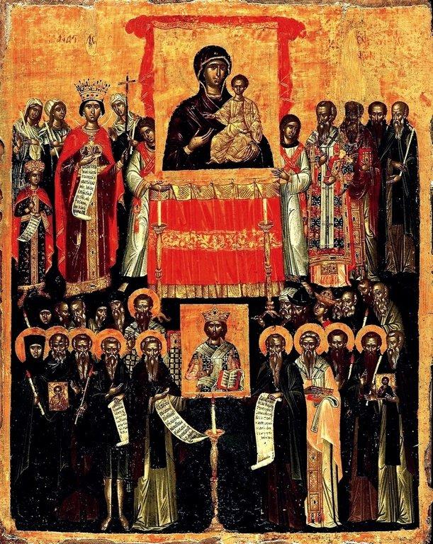 Торжество Православия. Икона. Греция, 1550 - 1575 годы.