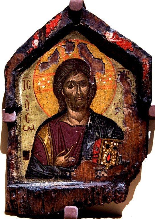 Христос Пантократор. Икона. Византийский музей в Верии, Греция.