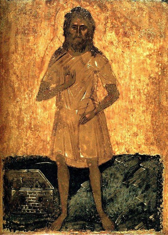 Святой Преподобный Алексий, человек Божий. Икона. Крит, около 1500 года.