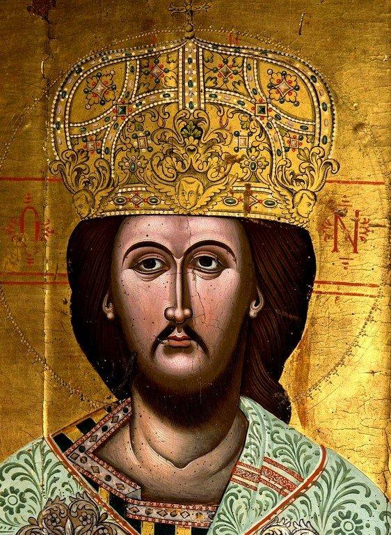 Христос Великий Архиерей. Греческая икона. Церковь Панагии Паригоритиссы в Арте, Греция. Лик Спасителя.