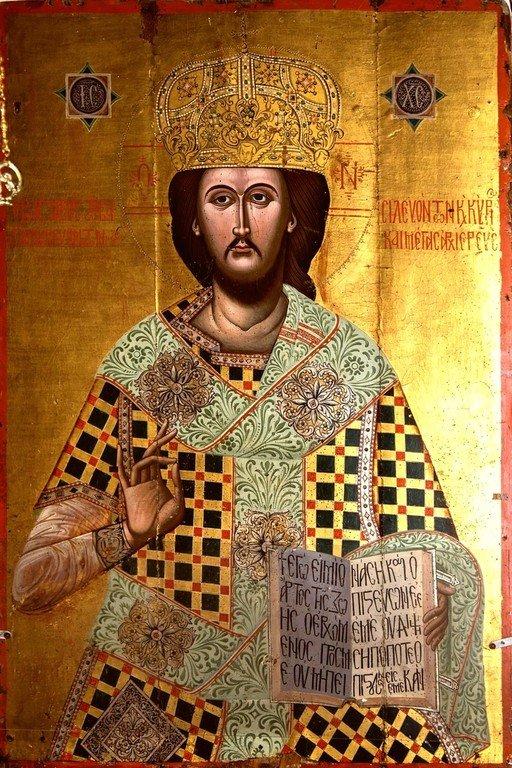 Христос Великий Архиерей. Греческая икона. Церковь Панагии Паригоритиссы в Арте, Греция.