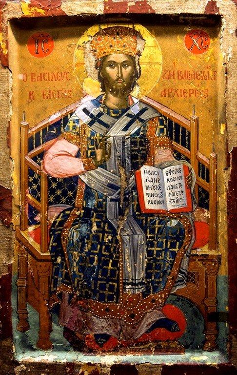 Христос Великий Архиерей. Греческая икона. Монастырь Великий Метеор в Метеорах, Греция.