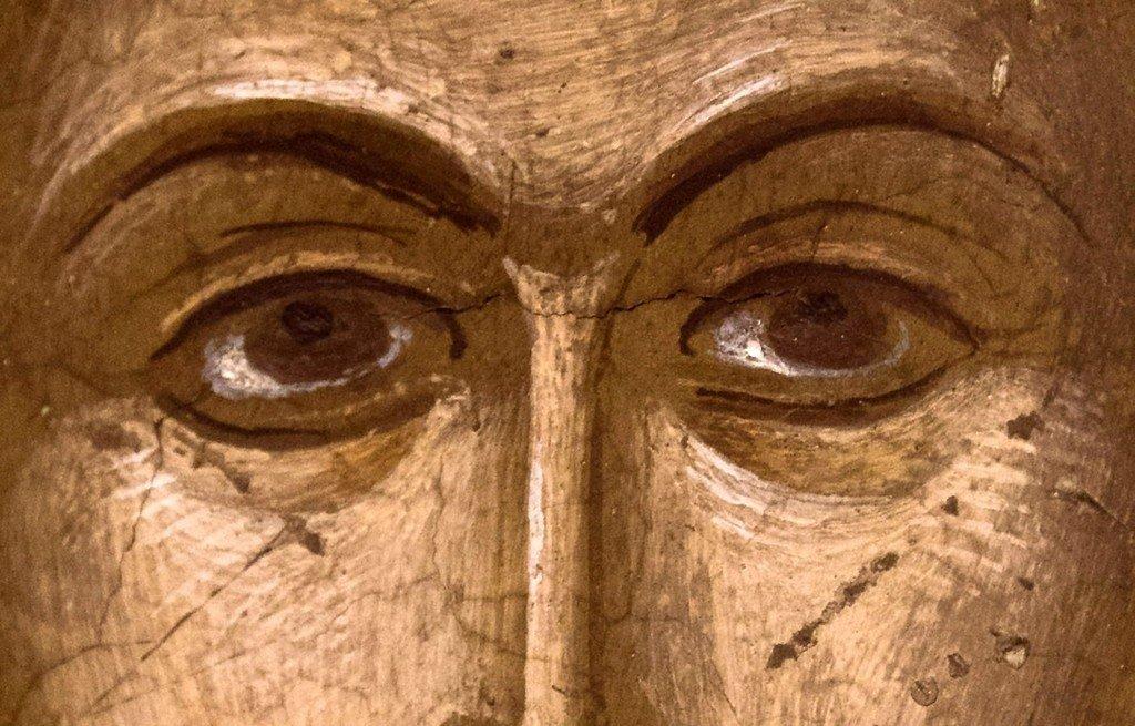Святой Мученик Николай Новый. Фреска монастыря Святого Николая Анапавсаса в Метеорах, Греция. 1527 год. Иконописец Феофан Критский.