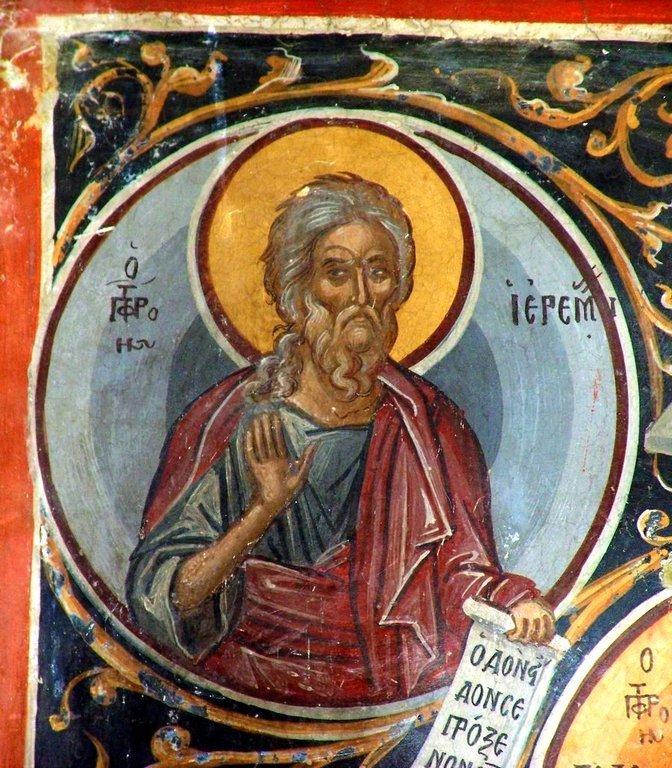 Святой Пророк Иеремия. Фреска монастыря Святого Николая Анапавсаса в Метеорах, Греция. 1527 год. Иконописец Феофан Критский.