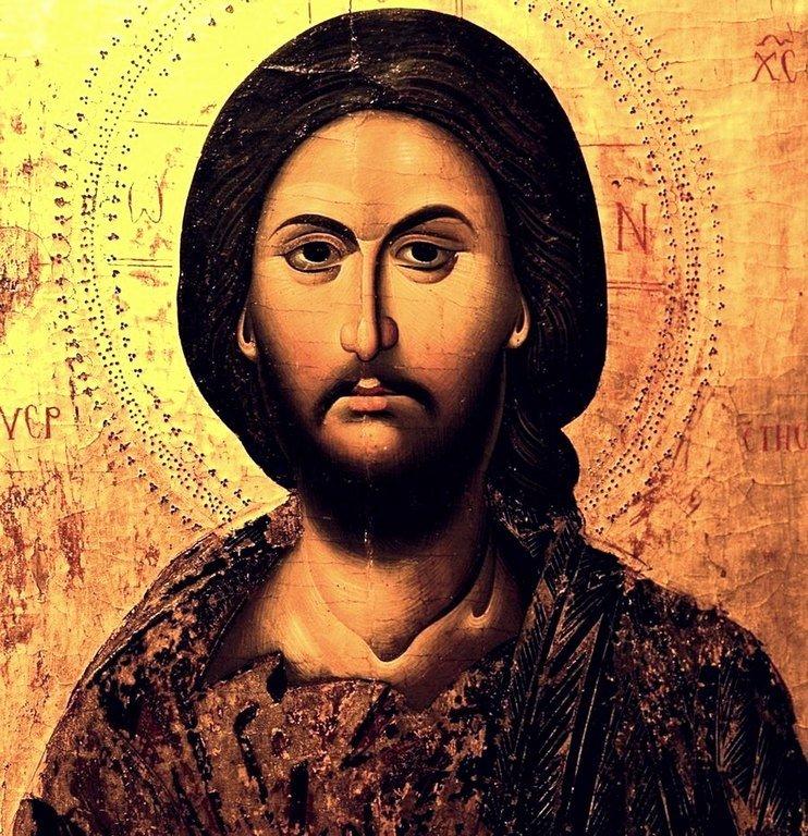 Лик Спасителя. Фрагмент старинной кипрской иконы.