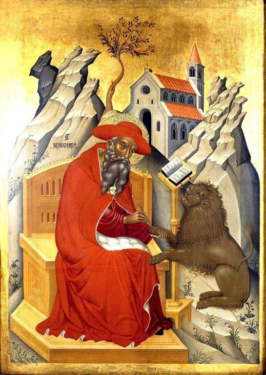 Святой Блаженный Иероним Стридонский. Икона. Венето-критская школа, начало XV века.