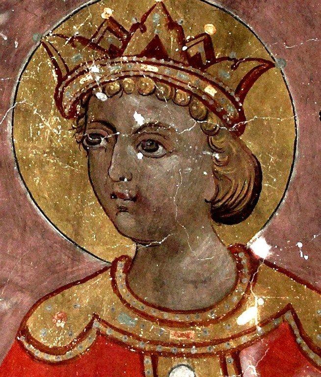 Святой Пророк Царь Соломон. Фреска церкви Панагии Феотокос в Трикомо на Кипре.