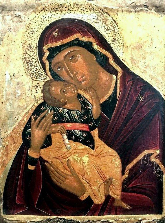 Богоматерь Гликофилуса. Икона. Крит, XV век.