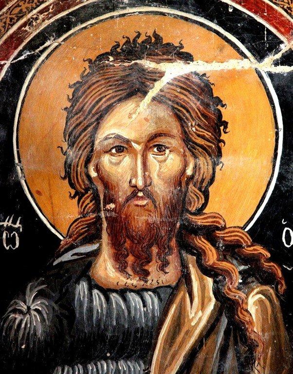 Святой Иоанн Предтеча. Фреска церкви Архангела Михаила и Божией Матери в Галате на Кипре. 1514 год.