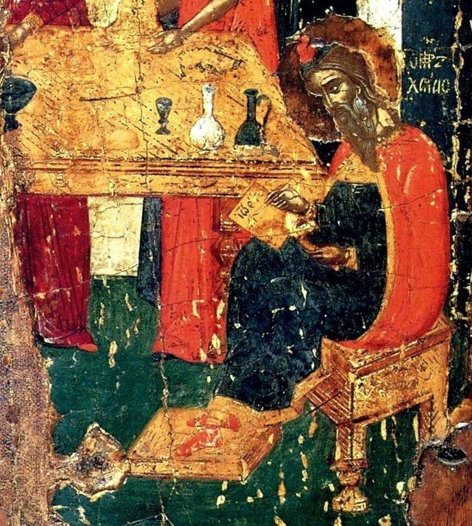Рождество Святого Иоанна Предтечи. Икона. Крит, начало XVI века. Фрагмент.