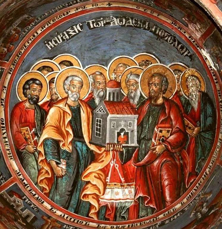 Собор Святых Двенадцати Апостолов. Греческая фреска.