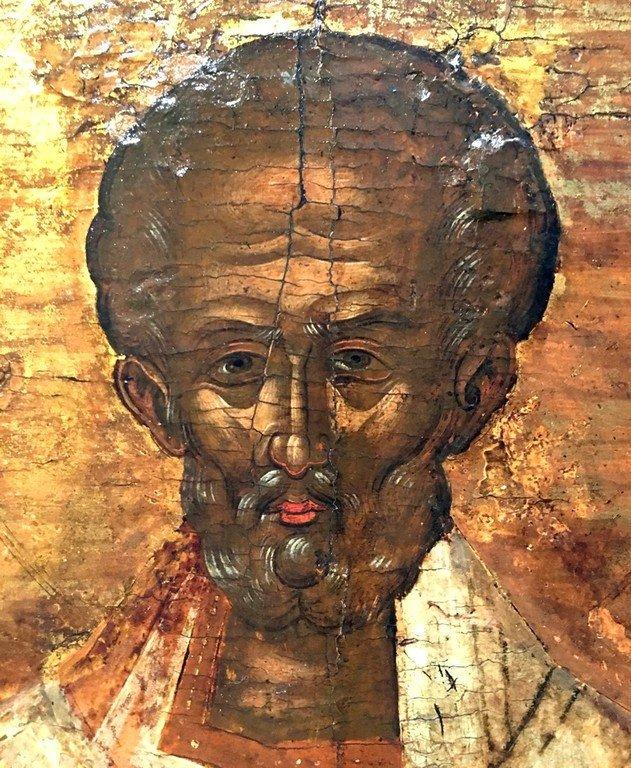 Святитель Николай, Архиепископ Мир Ликийских, Чудотворец. Греческая икона. Лик.