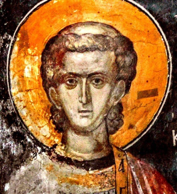 Святой Апостол от Семидесяти, Первомученик и Архидиакон Стефан. Фреска монастыря Святого Неофита Затворника на Кипре. 1503 год.