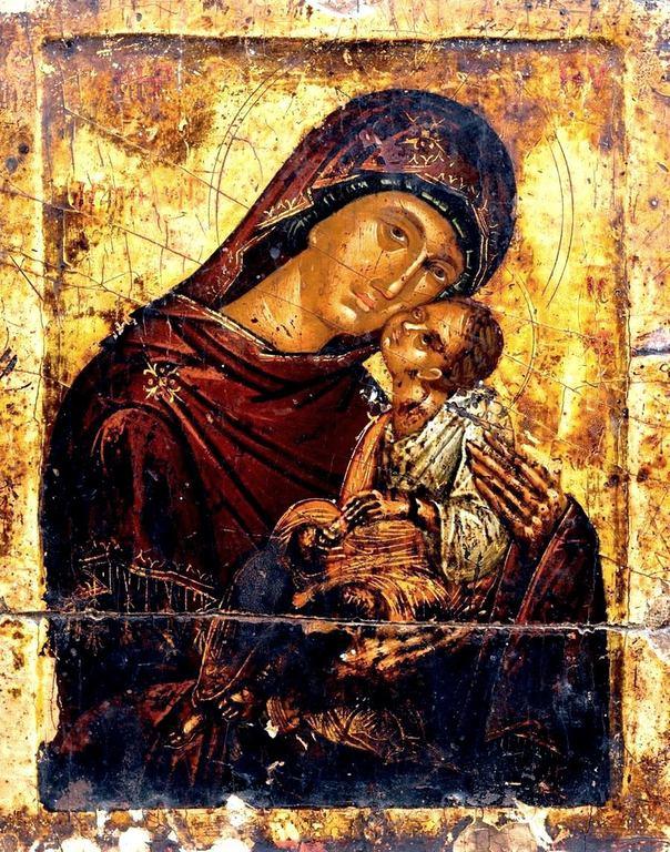 Богоматерь Елеуса. Икона. Крит, вторая половина XV века.