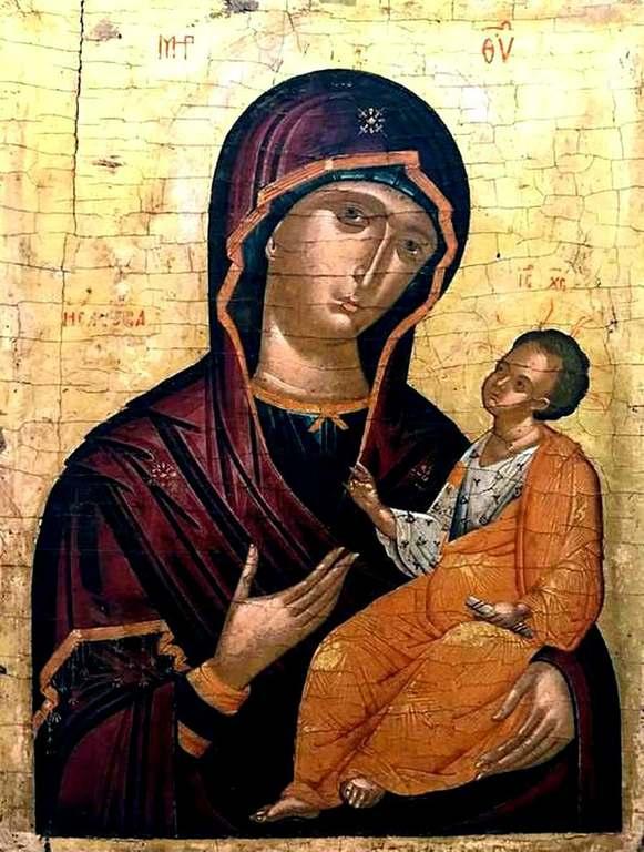 Богоматерь Одигитрия. Икона критской школы.