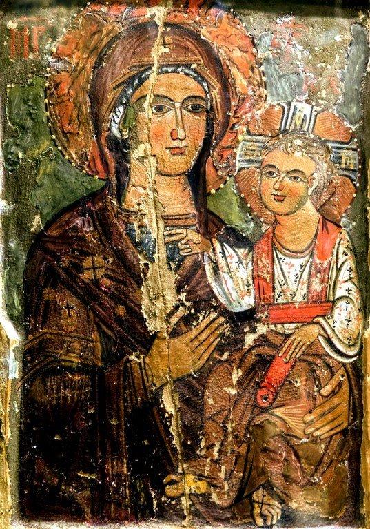 Богоматерь Одигитрия. Икона в монастыре Великий Метеор в Метеорах, Греция.