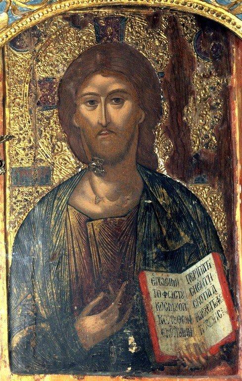 Христос Пантократор. Икона в монастыре Святого Неофита Затворника на Кипре.